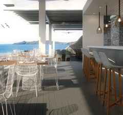 Greece Beach Bars – BayView Beach Restaurant & Bar, Santa Marina Resort & Villas, Mykonos
