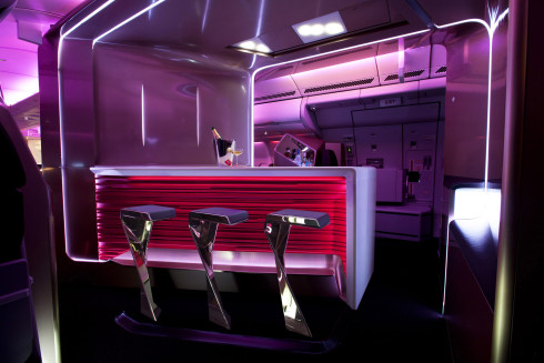 Virgin Atlantic's New Upper Class Cabin Bar