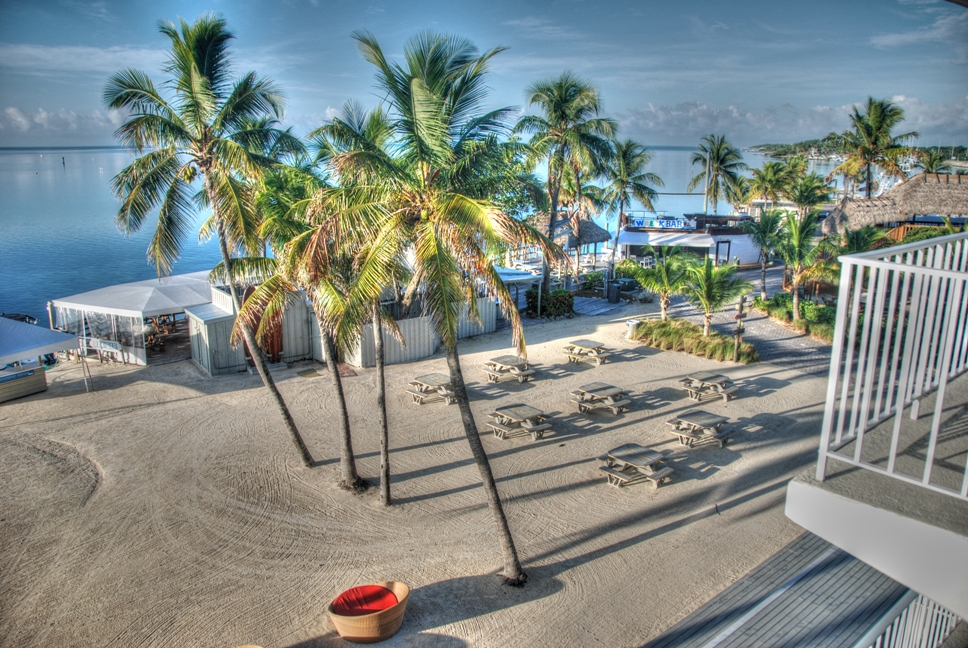 View from our room at the Postcard Inn, Islamorada, Florida