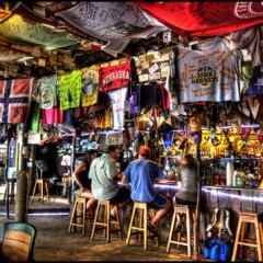 Beach Bars in HDR – Foxy's, Jost Van Dyke, British Virgin Islands