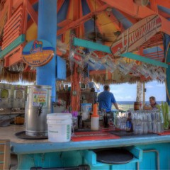 Beach Bars in HDR – Sharky's on the Pier, Venice, Florida