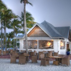 Beach Bars in HDR: TJ's Tiki Bar, Tranquility Bay Resort, Marathon, Florida