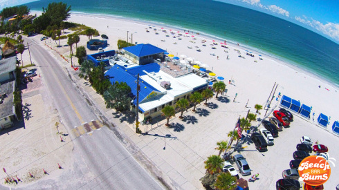 Aerial view of Caddy's on the Beach