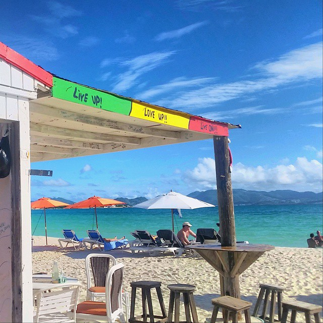 If you recognize the view, you're lucky enough to have met Garvey, the heart and soul behind the Sunshine Shack on Rendezvous Bay in Anguilla.