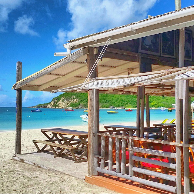 The view from Johnno's on Road Bay in Sandy Ground, Anguilla.