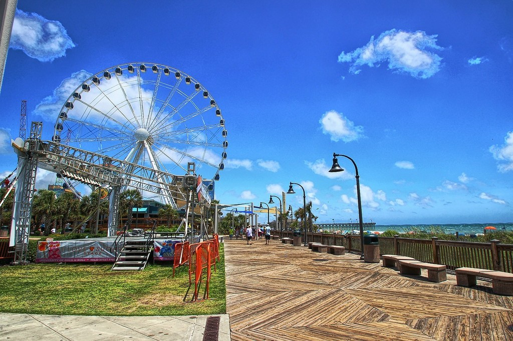 "Myrtle Beach boardwalk. Credit flickr user ""Forsaken Fotos"""