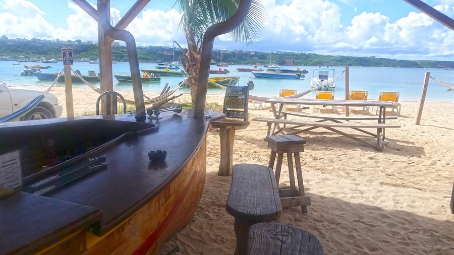 Elvis' Beach Bar in Anguilla, a great spot to share drinks and stories with your fellow beach bar bums.