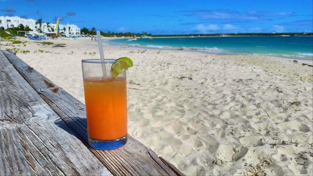 Rum Punch at Dune Preserve, Anguilla