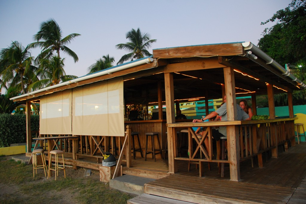 The Dock beach bar, Timothy Beach Resort, St. Kitts