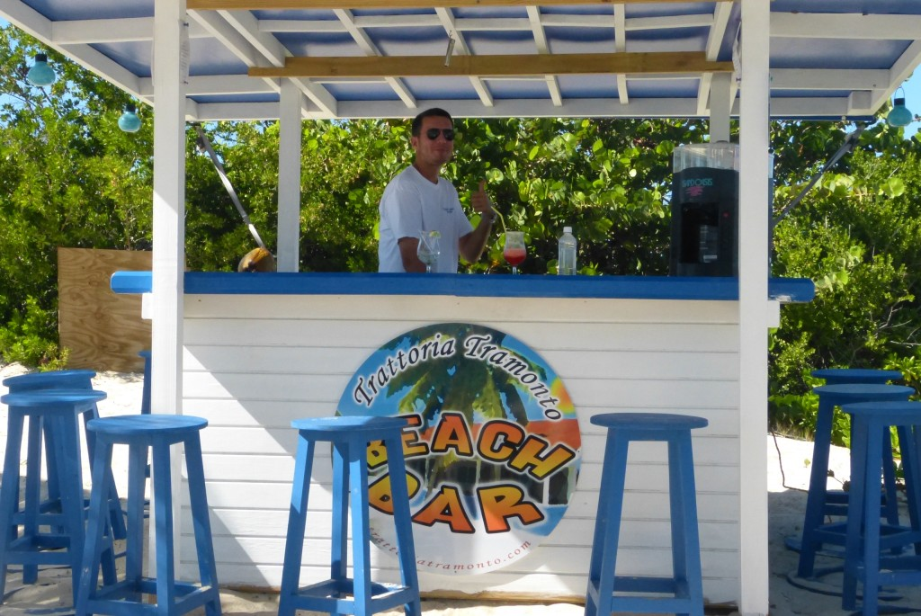 The beach bar at Trattoria Tramonto, Shoal Bay West, Anguilla