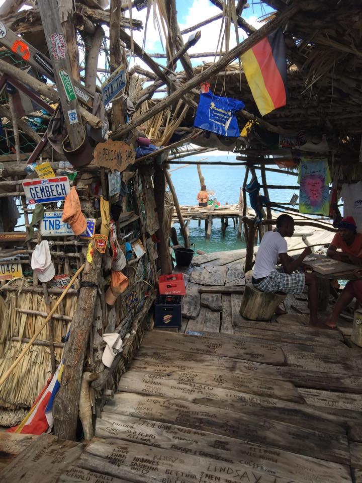 Interior view of Floyd's Pelican Bar, Jamaica. Photo by Dan Kelley.