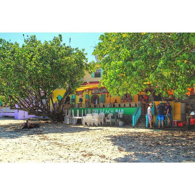 The Beach Bar in Cruz Bay, St. John. Photo by Instagram user noellenotnoel