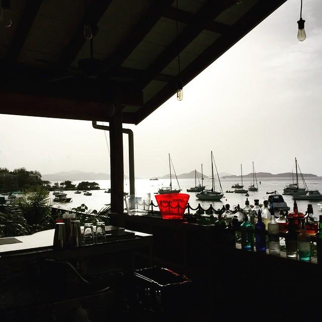 View of Cruz Bay from Vista Mare, St. John, US Virgin Islands. Photo by @helloskipper.