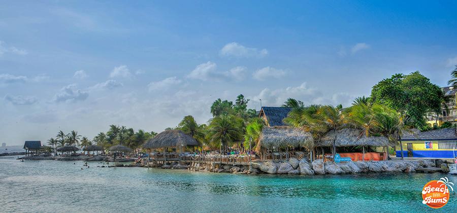 View of Hemingway Beach Bar in Curacao