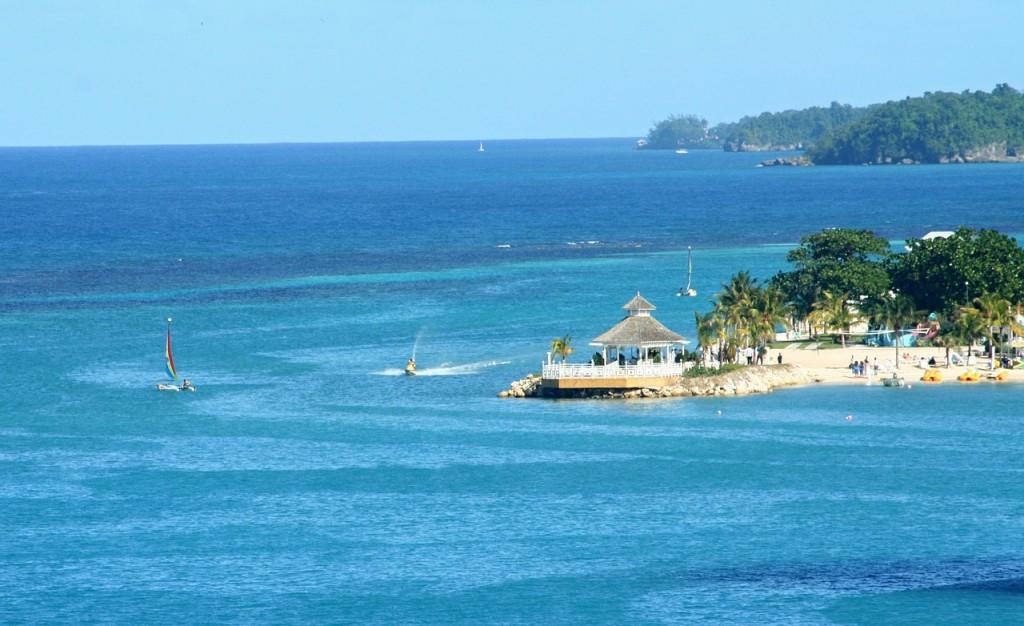 The coast of Ocho Rios, Jamaica