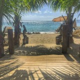 Those Beach Bar Views – Lunchtime At Reggae Beach Bar, St. Kitts