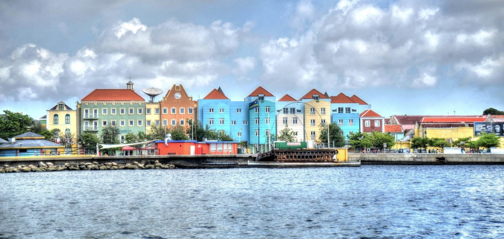 The colorful harbor at Willemstad, Curacao