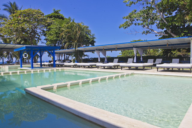 Pool at Costa Rica beach club for sale
