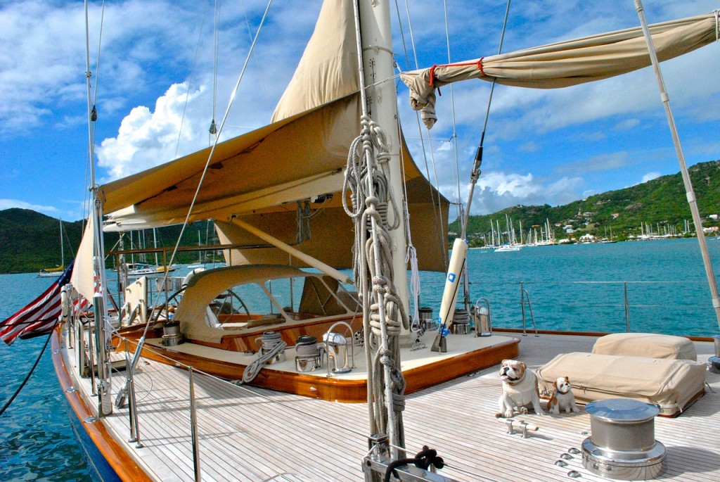 One of the many yachts in Antigua