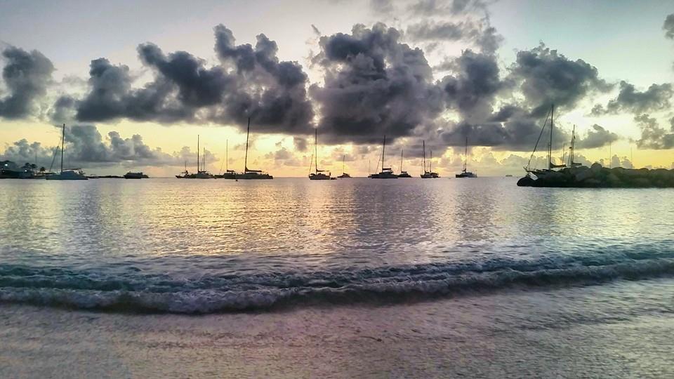 Sunset at Kim Sha Beach, Simpson Bay, St. Maarten