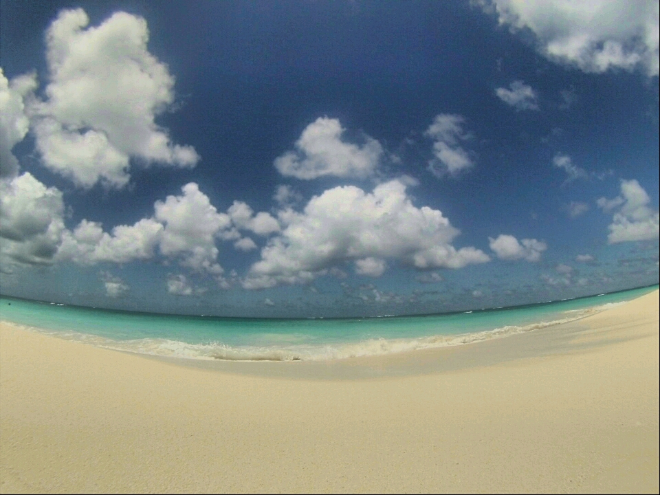View from the beach at Shoal Bay East, Anguilla