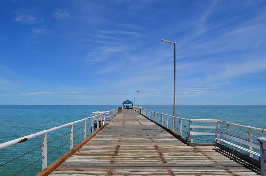 australia, ocean, pier
