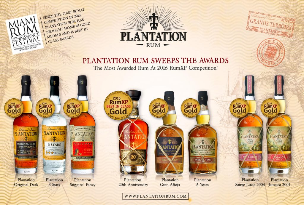 PLANTATION RUM Miami Rum Renaissance Festival Awards for 2016