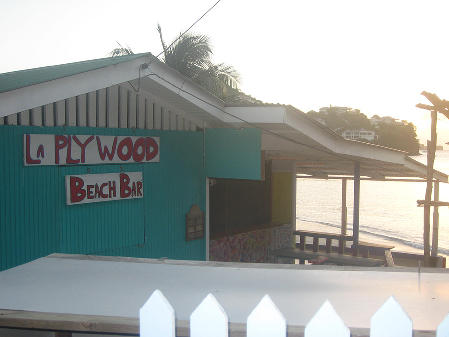 Road view of La Plywood Beach Bar, Mourne Rouge_BBC Beach