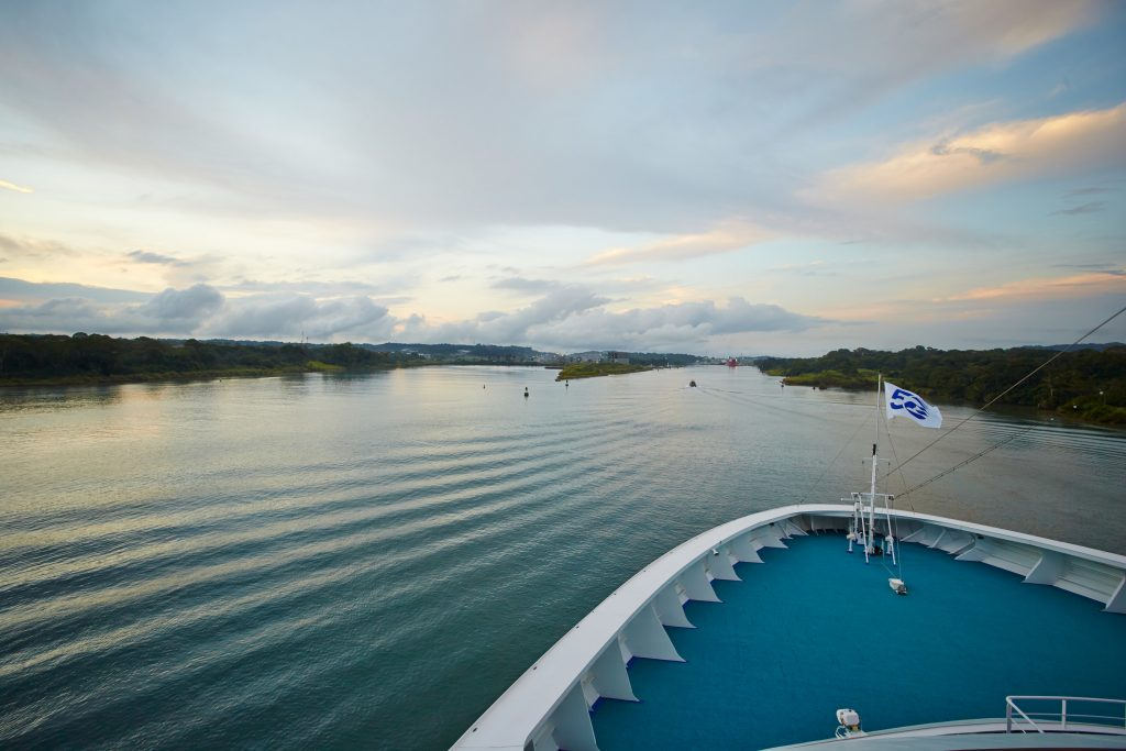 Cruise ship captains and their guests get a front row seat to amazing destinations including the Panama Canal. (Photo credit: Princess Cruises) (PRNewsFoto/Carnival Corporation)