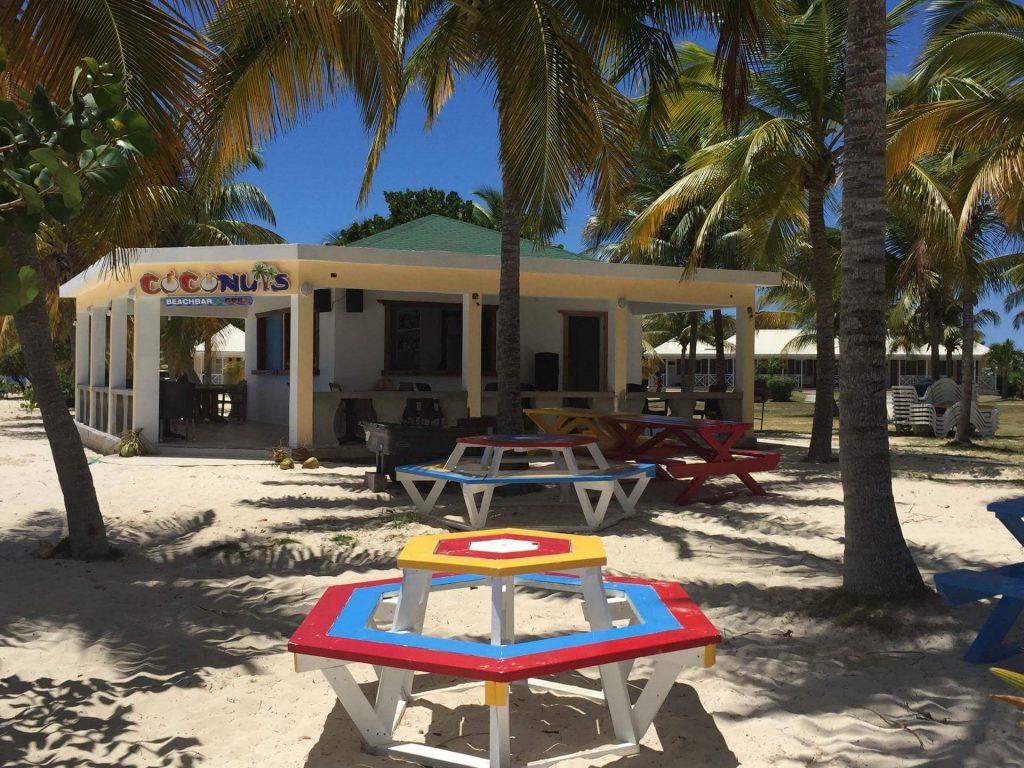 Plenty of seating at Coconuts Beach Bar, Anguilla Great House