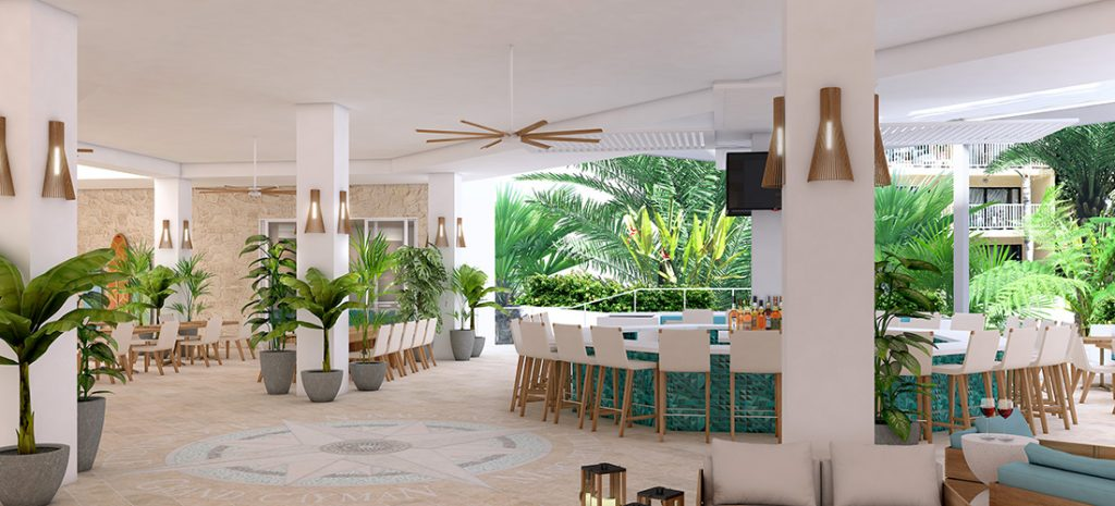 Chill Bar rendering. Photo courtesy of Margararitaville Grand Cayman