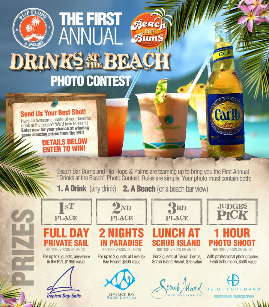 "Win great prizes as part of the ""Drinks at the Beach"" photo contest!"