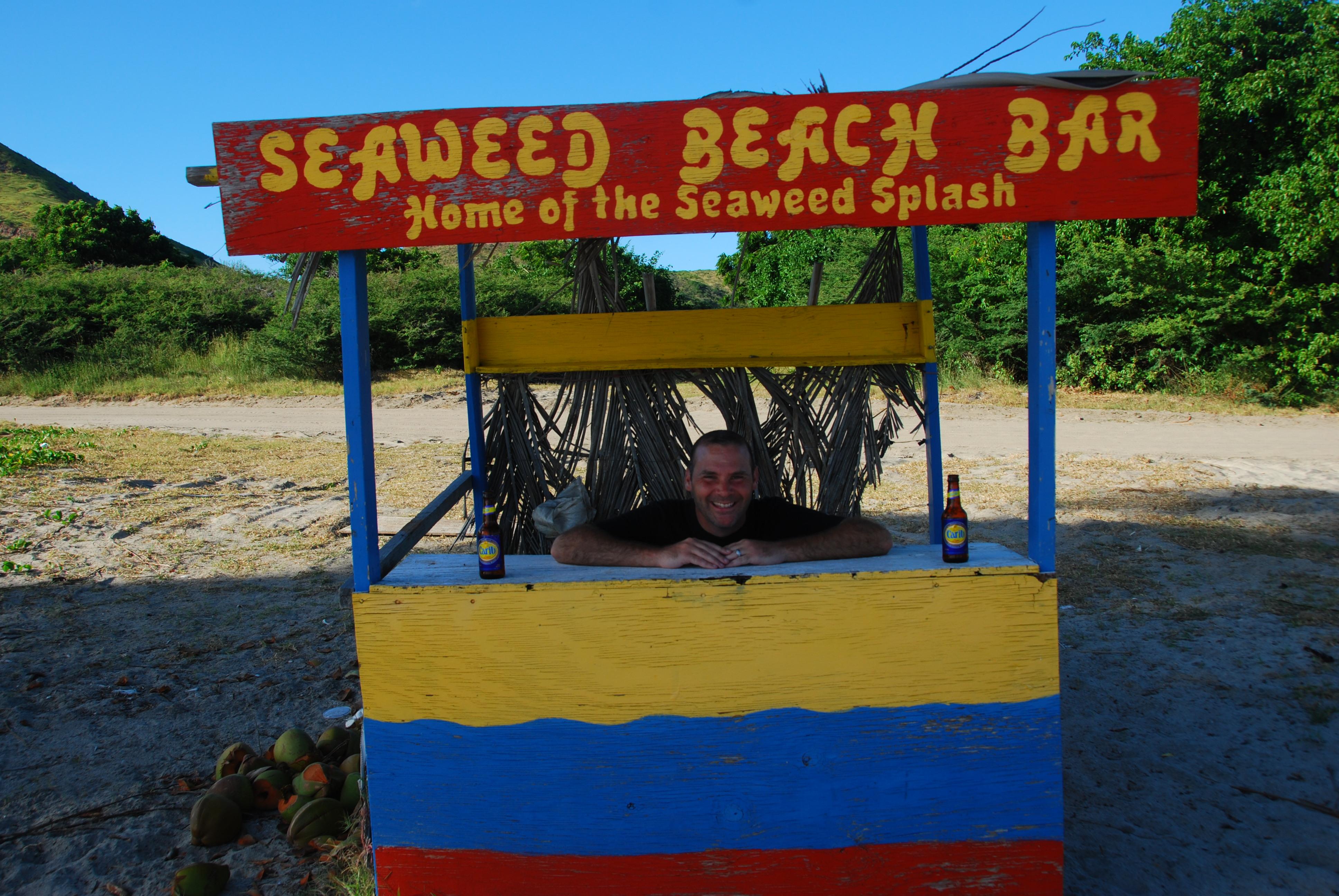 Beach Bar Bums 2012 Beach Bar Crawl - St. Kitts. Seaweed Beach Bar