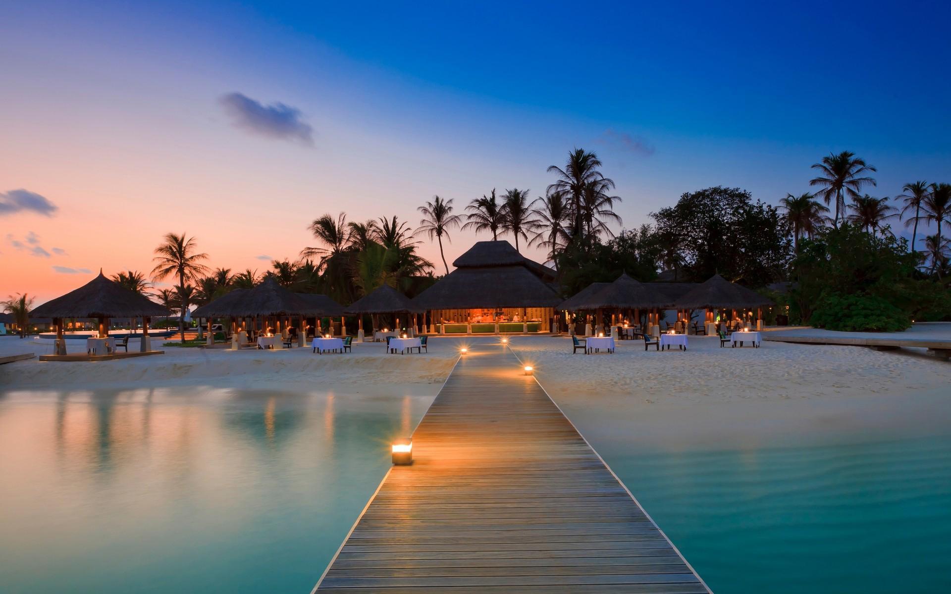 Exotic Beach Bar Nature Resort Architecture 1200 1920