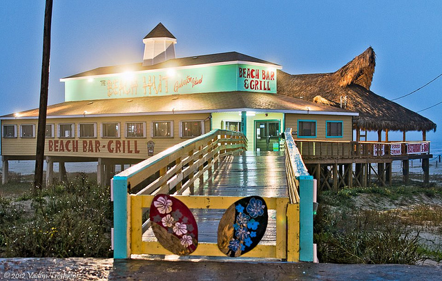 The Beach Hut Galveston Beach Bar