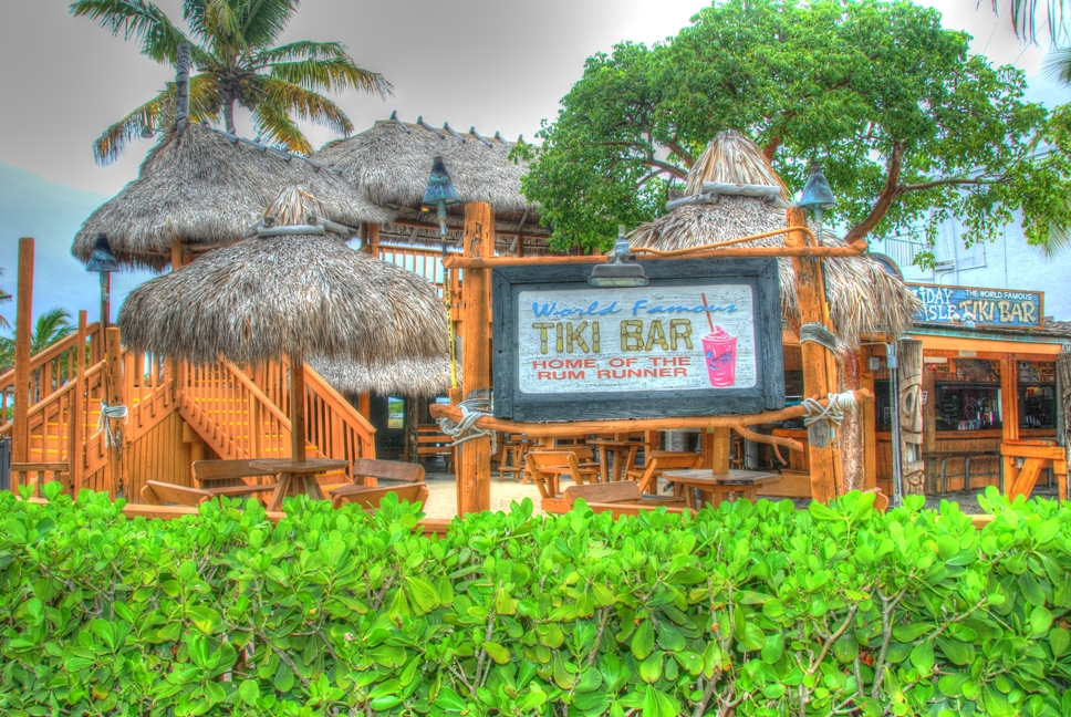 World famous Holiday Isle Tiki Bar, Postcard Inn, Islamorada