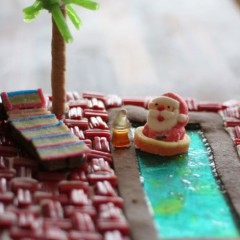 A Gingerbread Beach Bar