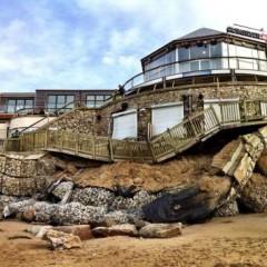 Fistral Beach Bar Damage