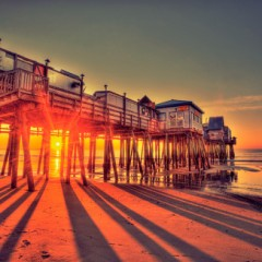 Beach Bars in HDR – Old Orchard Beach Pier, Maine