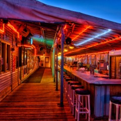 Beach Bars in HDR – Cocoa Beach Pier Bar, Florida