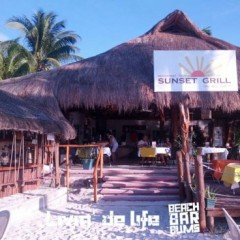 Mexico Beach Bars:  Sunset Grill, Isla Mujeres