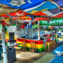 Beach Bars in HDR – Lion Rock Beach Bar, St. Kitts