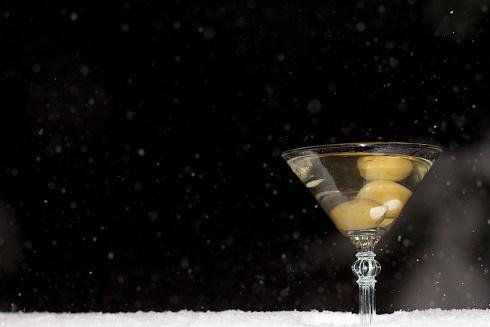 Dash of Snow in the Martini