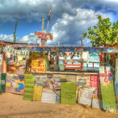 Beach Bars in HDR – Bomba Shack, Tortola, British Virgin Islands