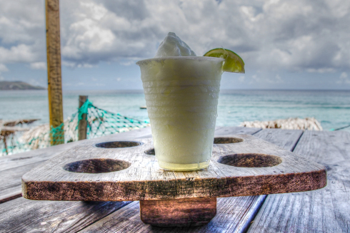 Frozen margarita served at Ship Wreck Beach Bar and Grill on Sou