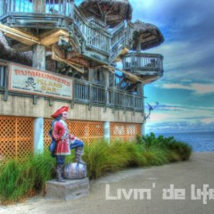 Beach Bars in HDR:  Rum Runners, Postcard Inn, Islamorada, Florida
