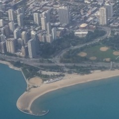 Aerial View Of Castaways Beach Bar, Chicago