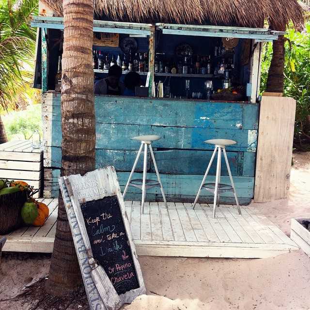 Beach bar, Tulum, Mexico. Credit http://instagram.com/bespokejourneysbyamy