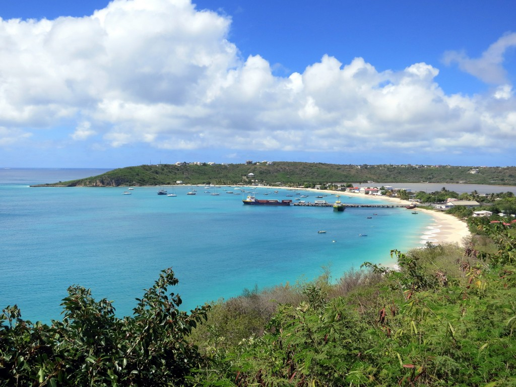 View of Road Bay, our home during our visit to Anguilla. Credit: Stefan Krasowski