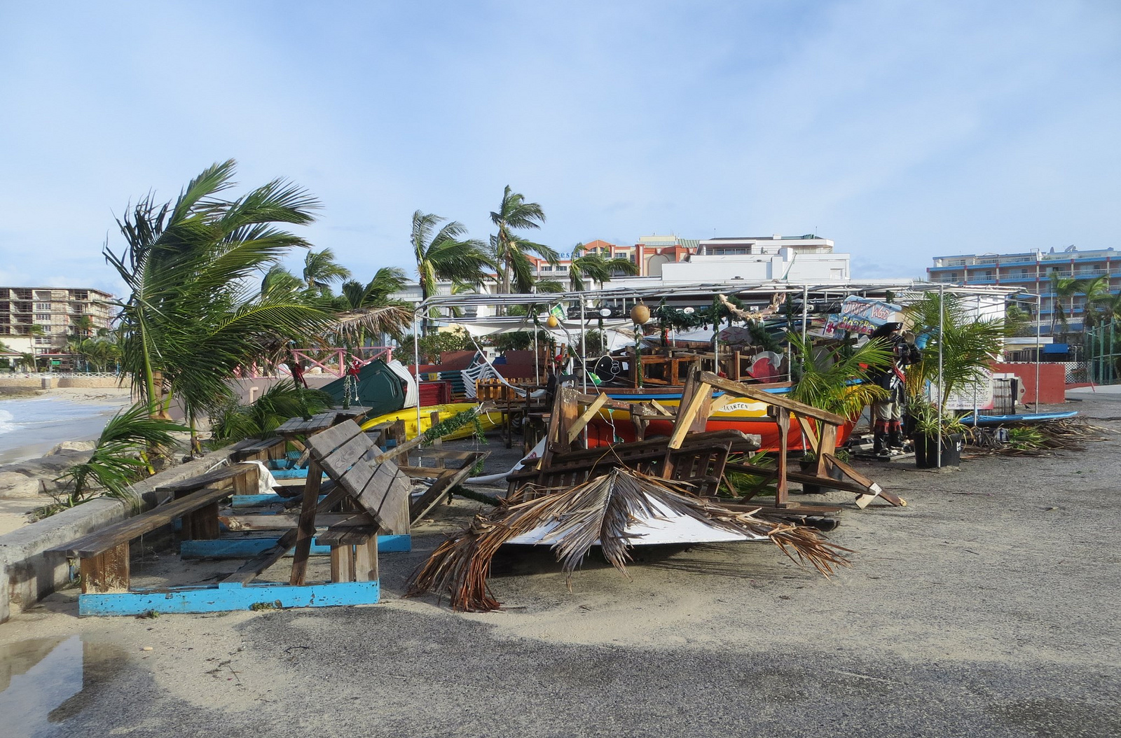 Hd Tropical Island Beach Paradise Wallpapers And Backgrounds: St. Maarten Beach Bars Continue Recovery From Gonzalo